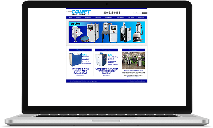 Comet Plastic Website Design