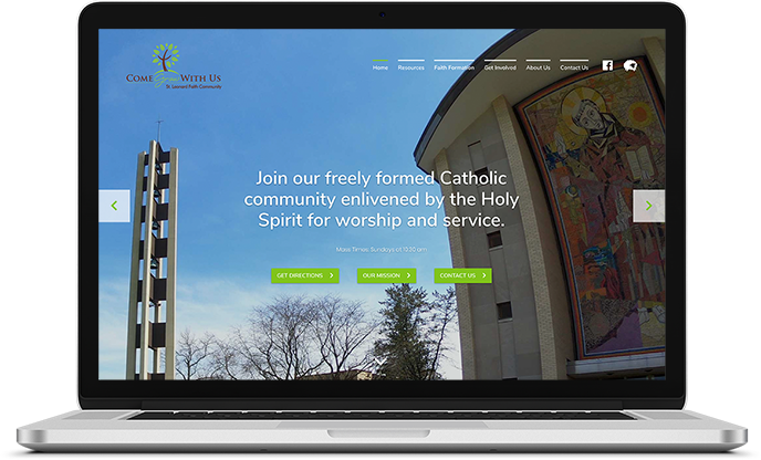 St. Leonard Faith Community Website Design